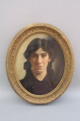 19th Century Painting English Artist James Jebusa Shannon Lady Portrait (7801)