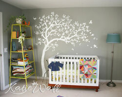 Large nursery tree wall decals Tree Wall sticker custom colors available KW032R