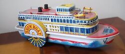 1950 tin steam show boat paddle wheel boat