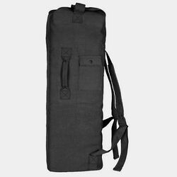 New Fox Outdoor Military Style Tactical Double Shoulder Canvas Black Duffle Bag