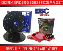 Ebc Front Gd Discs Redstuff Pads 241mm For Triumph Tr7 2.0 5 Speed 1975-81