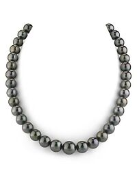 14k Gold 9-11mm Tahitian South Sea Cultured Pearl Necklace - Aaa Quality