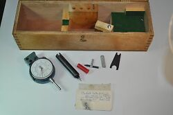 Dorsey Gage Co P6 Indicator Gage With 2cn100-05 Dial .0005 And Parts And Case