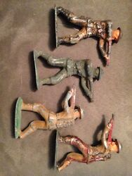 4 lead toy soldier standing rifleman