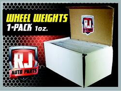 1 9 LB BOX WHEEL WEIGHTS 1 OZ. STICK ON ADHESIVE TAPE 144 PIECES