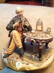 capodimonte figure watchmaker signed