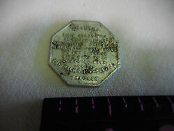 Old Antique Trade Token Coin Good For One Cake Of Crystal White Soap