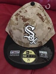 Chicago White Sox Mlb Baseball Marpat Camo Usmc Cap Hat Military Fitted 7 3/8