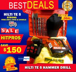 Hilti Te 5 Hammer Drill, Strong, Free Drill Bits And Chisels,fast Ship