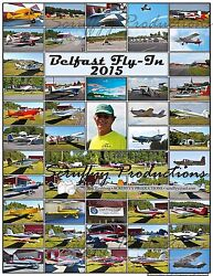 Belfast Maine Airport Fly-in 2015 Poster With Fleet Of Rv Aircraft And More