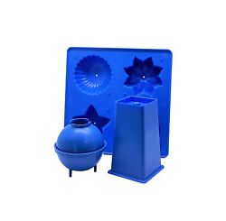 Proops Candle Mould Set X 3, Tray, Round/sphere And Square Top Pillar. S7509