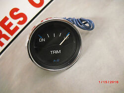 New Medallion Trim Gauge Chrome Bezel 677 2 Blkwhiteblue 2-e-2