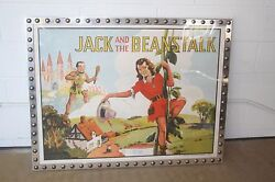 30s VAUDEVILLE CHROMOLITHOGRAPH JACK and the BEANSTALK X-21 URBAN MODERN FRAME