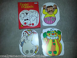 Circus Time 1975 Finger Puppets Vintage 17 Full Color Die Cut Collectible New