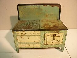 old tin toy stove wolverine mfg pittsburgh