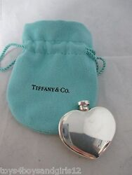 And Co. Heart Shape Perfume/scent Bottle Sterling Silver Antique C1900's