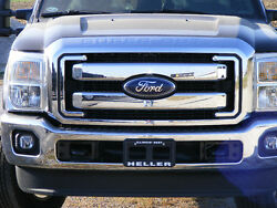 2011-2016 Ford F250 F350 F450 F550 Super Duty Chrome Grille New Complete