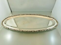 Applied Scroll Border Oval Serving Tray 16 Sterling By Fcs 1 Mexico