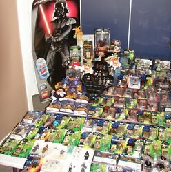 Huge Star Wars Collection 244 Pieces+ Figures Rare, Vintage, Modern All One Lot