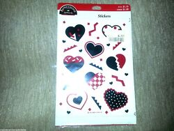 Expressions From Hallmark 4 Sheets 32 Heart Stickers Gift Seals Vintage New