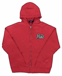 Polo 'polo Football' Fleece-lining Zip Up Hoodie Red Size L Nwt