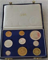 1964 South Africa Gold 1-2 Rand And Silver Coin Set Pound Proof 3000 Mintage