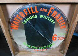 Rare Antique Waterfill And Frazier Whiskey Large Advertising Mirror,ships Free