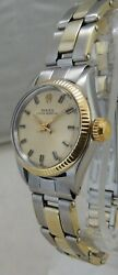 Rolex Oyster Perpetual Ss Ladies Watch 25mm Orig Band And Dial All Orig 1978