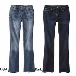 Choice Of Color Womens Mossimo Modern Fit Bootcut Denim Jeans Nwot A9