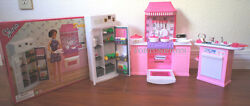 Gloria Doll Furniture Deluxe Kitchen W/refrigerator And Sink 9986 Playset