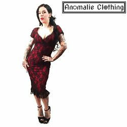 Switchblade Stiletto Red and Black Lace Spanish Harlot Annabella Dress Vintage