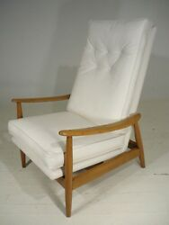 Milo Baughman Thayer Coggin Danish Modern Style Tall Back  Rocking Lounge Chair