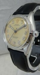 Rolex Oyster Perpetual Mens Ss Model 6565 Watch 34 Mm On New Band Cal 1030 1957