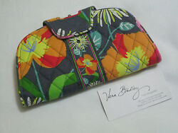Vera Bradley JAZZY BLOOMS KISS N & SNAP WALLET Clutch COIN FOR PURSE Tote NWOT~