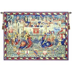 Le Tournoi De Camelot French Tapestry Wall Hanging