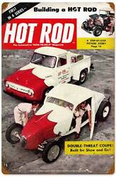 Hot Rod Magazine Drag Race Double Threat Coupe Metal Sign Man Cave Garage HRM077