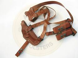 Armadillo Tan Leather Horizontal Miami Vice Shoulder Holster For 1911 P2