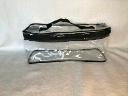 NEW LOT OF 15 LARGE CLEAR ZIPPERED COSMETIC VINYL PLASTIC MAKE UP BAG POUCH CASE $75.00