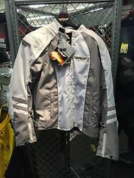 NEW FLY LADIES WHITE GRY GEORGIA JACKET WITH LINER SIZE 9 10