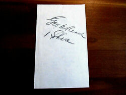 George A. Reach Owner And Nephew Of A.j. Reach Baseball Glove Co. Signed Auto Jsa