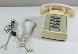 Vintage Tan Western Electric Bell System Touch Tone Desk Telephone Phone Std Tt