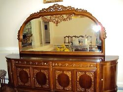 Hand Crafted Antique Dining Room Buffet From Turkey Good Condition