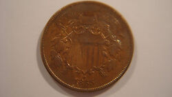 1865 Two 2 Cent Piece - Ungraded - Lots Of Detail - Beautiful A8by