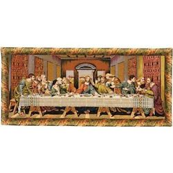 The Last Supper Ii Italian Tapestry Wall Hanging