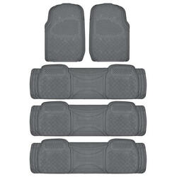 All Weather Rugged Gray Non-slip Trimmable Suv Van Floor Mat And Liner 5 Pcs