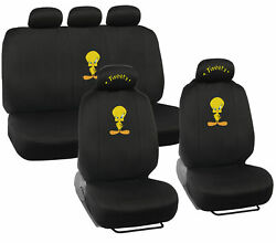 Looney Tunes Original Tweety Seat Covers For Car - Official Wb Products