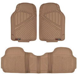 Motortrend Floor Mat For Car Suv Heavy Duty 3 Pc All Weather 100 Odorless Beige