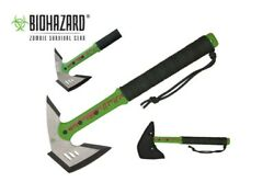 16 Biohazard Survival Zombie Killer Tactical Throwing Axe With Sheath Brand New