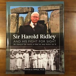 Used Sir Harold Ridley And His Fight For Sight By David J. Apple 1556427867