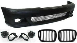Front bumper with mesh grill kidney drill and fog lights for BMW E39 M5 95-03